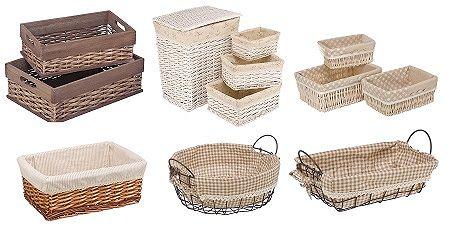 Примеры продаваемых стеллажных корзин.